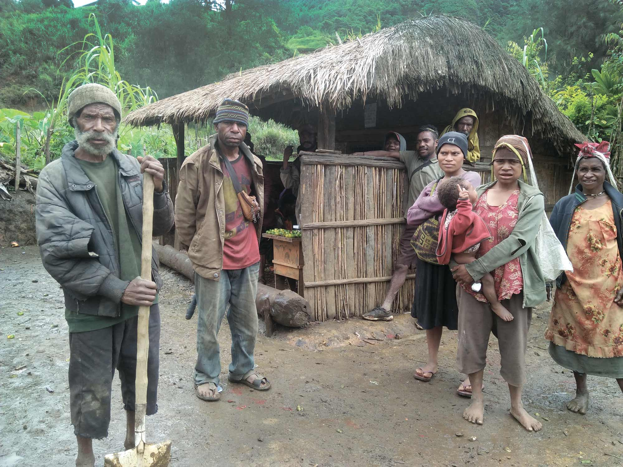 People in a remote village